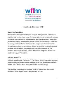 Newsletter no 2, Dec 2012