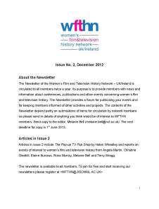 Newsletter no 2, Dec 2012
