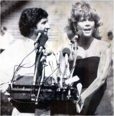 Jane Fonda and Tom Hayden, 1979