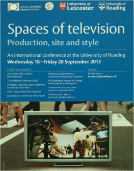 Spaces of Television Conference