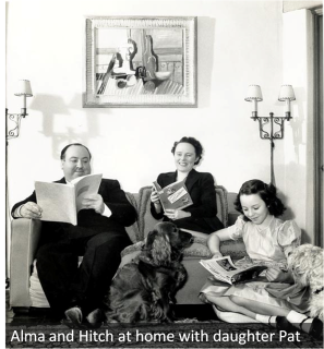 Alma and Hitch at home with daughter Pat