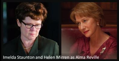 Imelda Staunton and Helen Mirren as Alma Reville