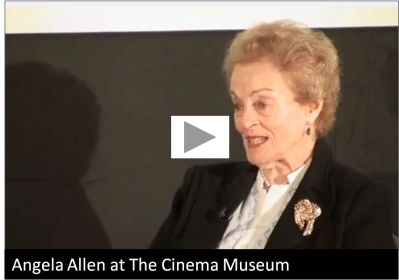 Angela Allen at The Cinema Museum, 2010