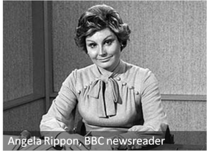 Angela Rippon, BBC newsreader (c.1976)