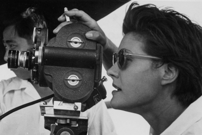 Kay Mander filming The New Boat (1955) © Courtesy of Kay Mander Collection