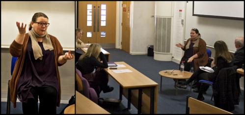 Joanna Scanlan at De Montfort University-Images courtesy of Communications at DMU