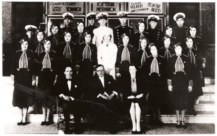 Staff photograph at the Regent cinema, Portsmouth, 1933. © Image courtesy of Eva Balogh's private collection.