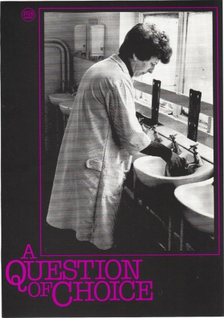 Cover for 'A Question of Choice' (SFC, 1982) © Image courtesy of Sheffield Film Co-op