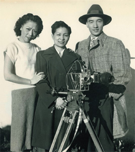 Esther Eng shooting Heartaches (1936)