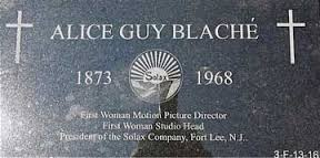 The Fort Lee Film Commission's grave marker to cinema pioneer Alice Guy Blaché