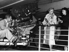 Deborah Kerr and Donna Reed filming the last scene of From Here to Eternity (1953)