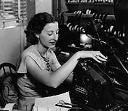 Film editor Barbara McLean at Fox in 1936