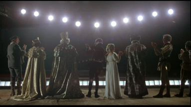 A Moscow performance of Hamlet which occurs in Julia (1977).
