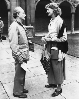 Vanessa Redgrave with Zinnemann during the Oxford shoot of Julia (1977).