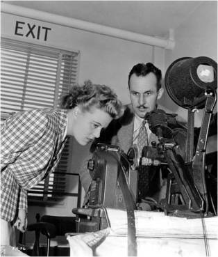 Joan Harrison in the cutting room