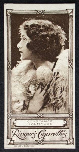 Constance Talmadge, Cigarette Card from The Bill Douglas Cinema Museum, University of Exeter