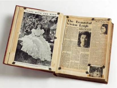 Volume of Press Cuttings held in the Vivien Leigh Archive © Victoria and Albert Museum