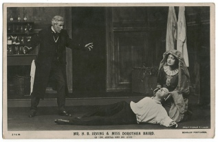 """H.B Irving & Dorothea Baird (a/w) in """"Dr. Jekyll and Mr. Hyde,"""" Beagles Postcard."""