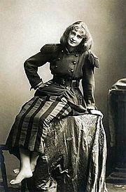 Dorothea Baird as Trilby c.1895.