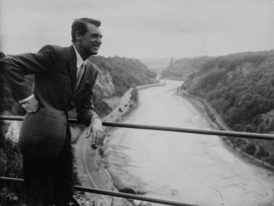 Cary Grant above the Avon Gorge, courtesy of Bristol Evening Post.